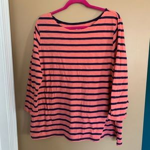 Coral and Navy Striped Shirt 2XL Old Navy